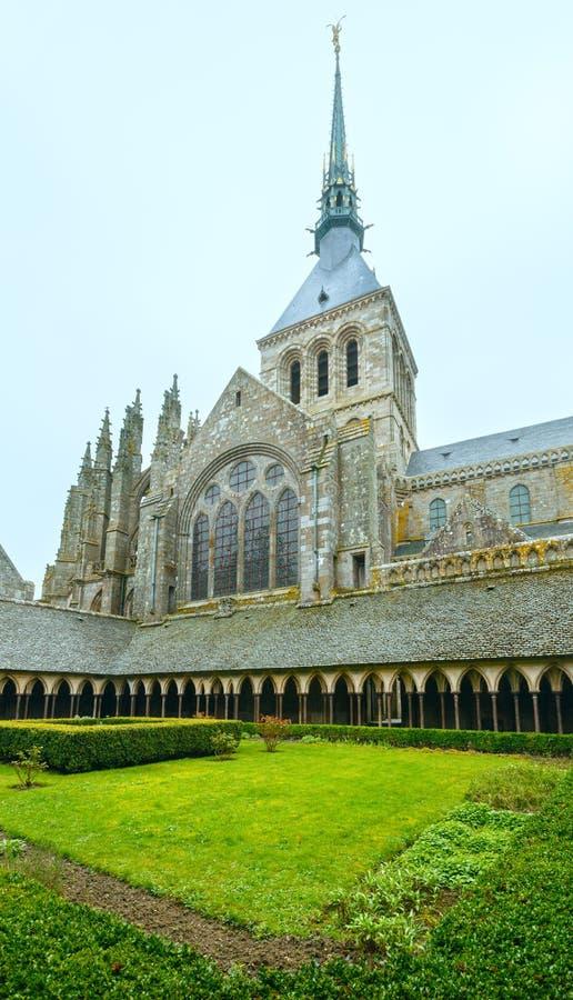 La galleria gotica del monastero di St Michael Mont Saint-Michel, immagini stock libere da diritti