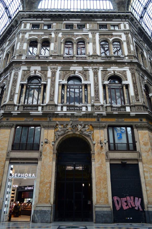 La galleria Umberto I Napoli fotografia stock libera da diritti