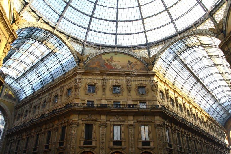 La galleria Vittorio Emanuele II immagini stock