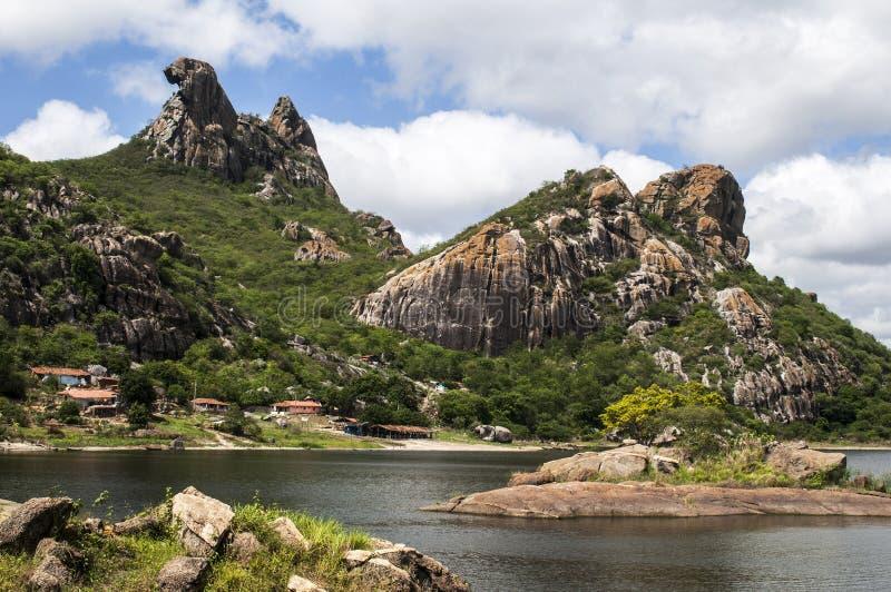 La gallina clueca de Quixada, el Brasil de la roca foto de archivo