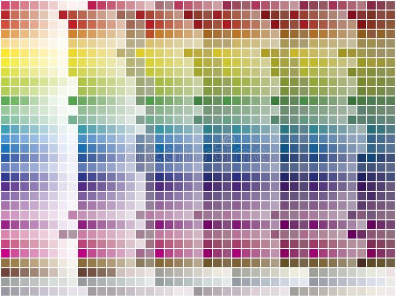 La gama de colores de color embaldosó el fondo libre illustration