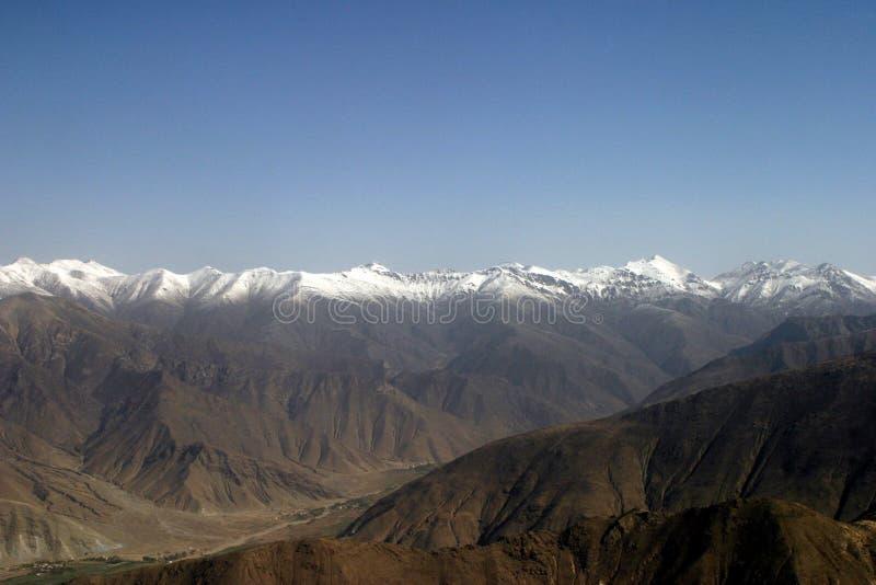La gamme de montagne de l'Himalaya photo stock