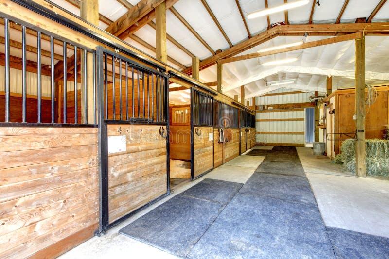 La gamme de produits de ferme de cheval a jeté l'intérieur. images stock