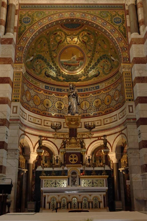La Garde de Notre Dame de, Marselha fotografia de stock