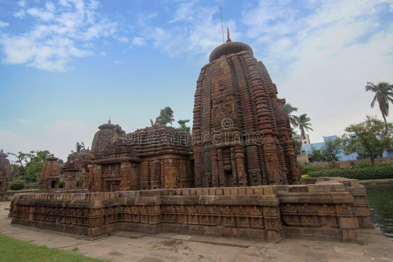 La gema de la arquitectura de Odisha, templo de Mukteshvara, dedicado a Shiva localizó en Bhubaneswar, Odisha, la India fotografía de archivo libre de regalías