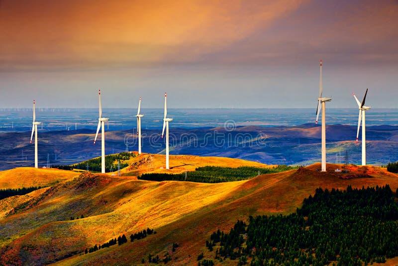 La generazione dell'energia eolica, Cina immagine stock libera da diritti