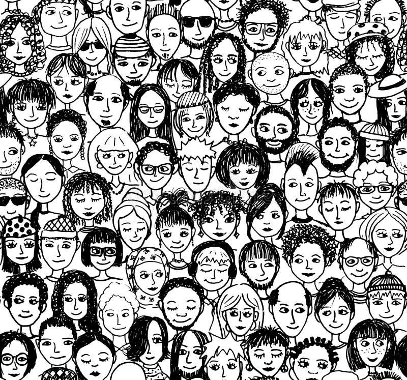 La gente illustrazione di stock