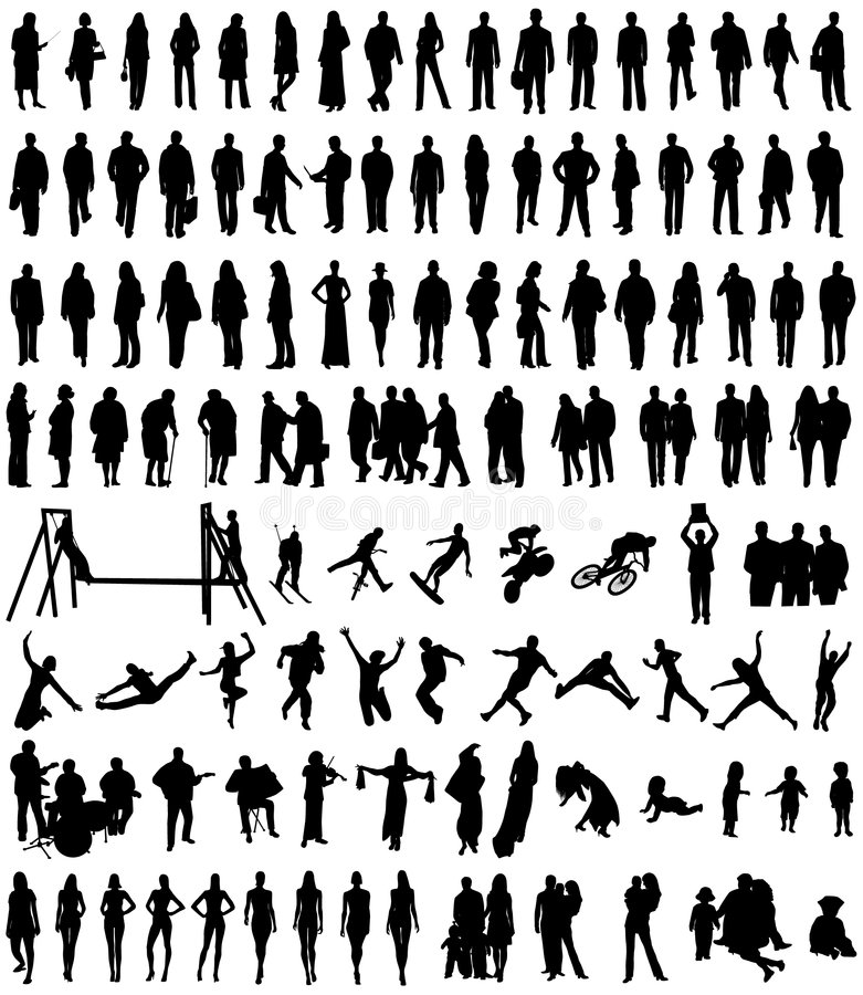 La gente royalty illustrazione gratis