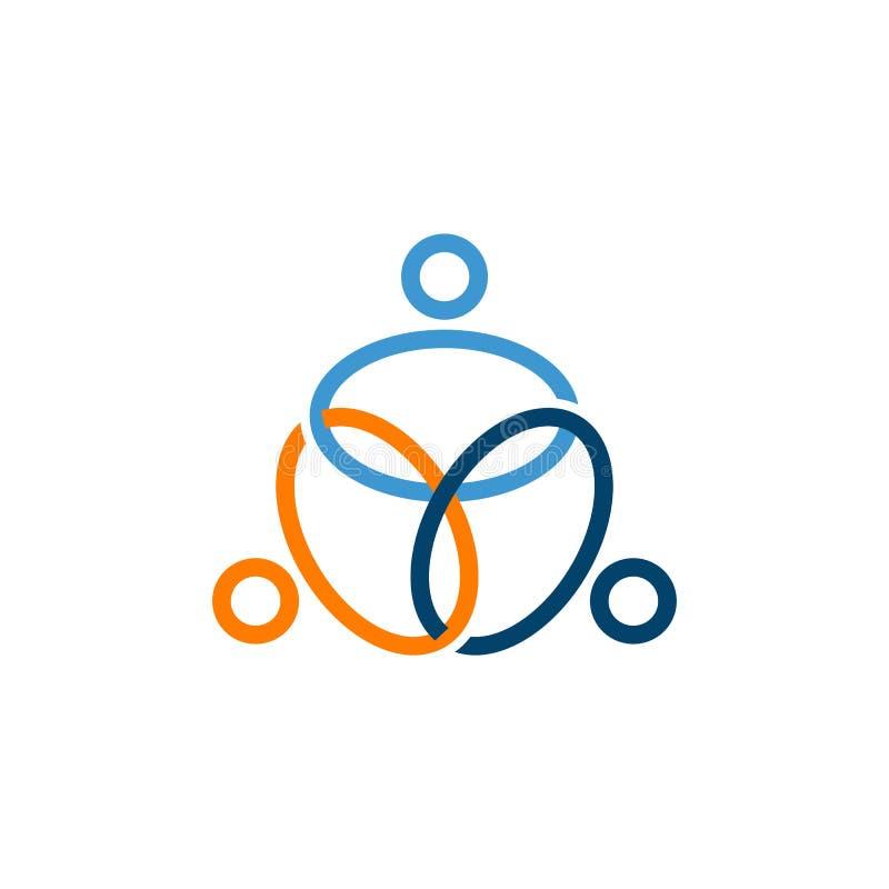 La gente abstracta lig? vector del logotipo de las discusiones libre illustration