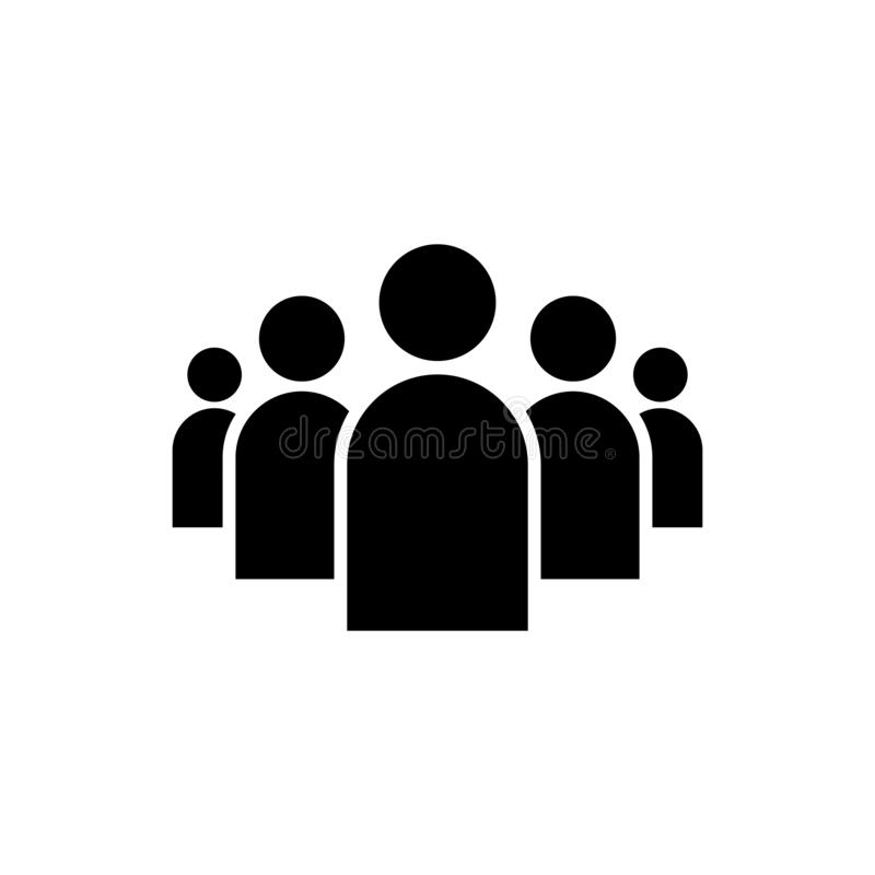 La gente agrupa el icono del vector aislado en el fondo blanco 9 stock de ilustración