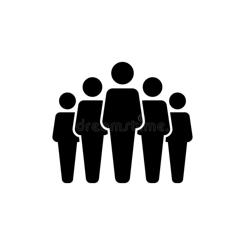La gente agrupa el icono del vector aislado en el fondo blanco 10 ilustración del vector