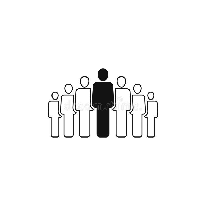 La gente agrupa el icono del vector aislado en el fondo blanco 4 ilustración del vector