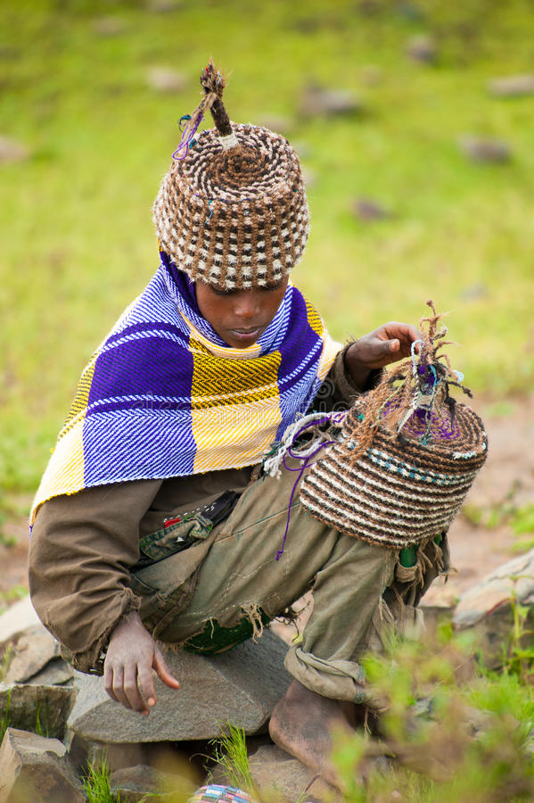 La gente in AKSUM, ETIOPIA fotografie stock