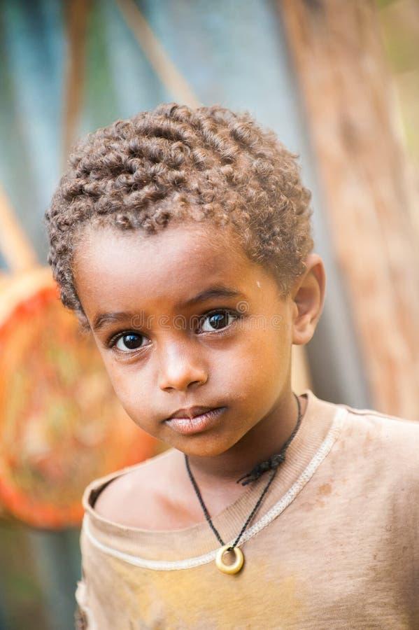 La gente in AKSUM, ETIOPIA fotografia stock