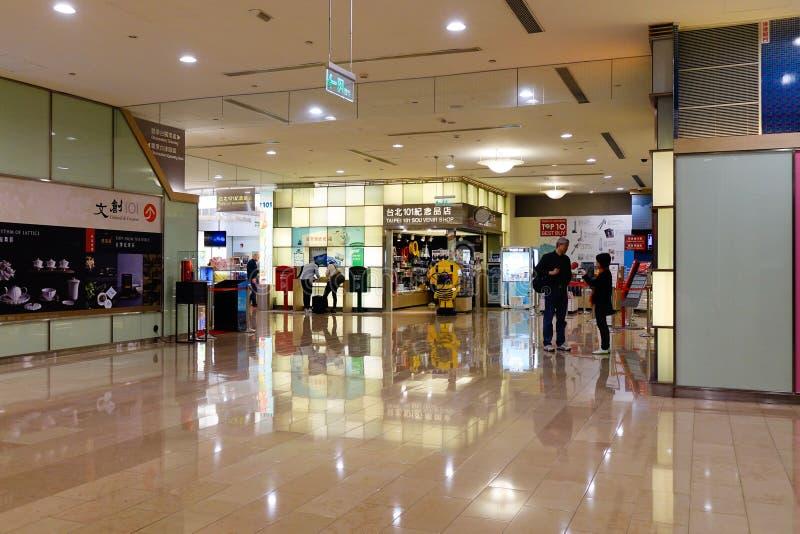 La gente al centro commerciale in Taipei, Taiwan fotografie stock