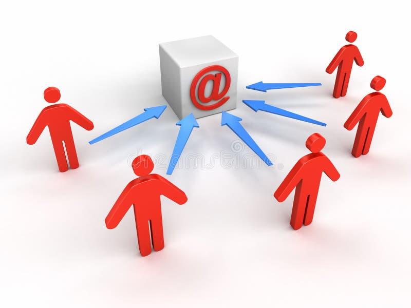 La gente al email illustrazione vettoriale
