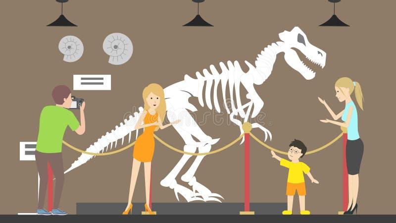 La gente al museo illustrazione di stock