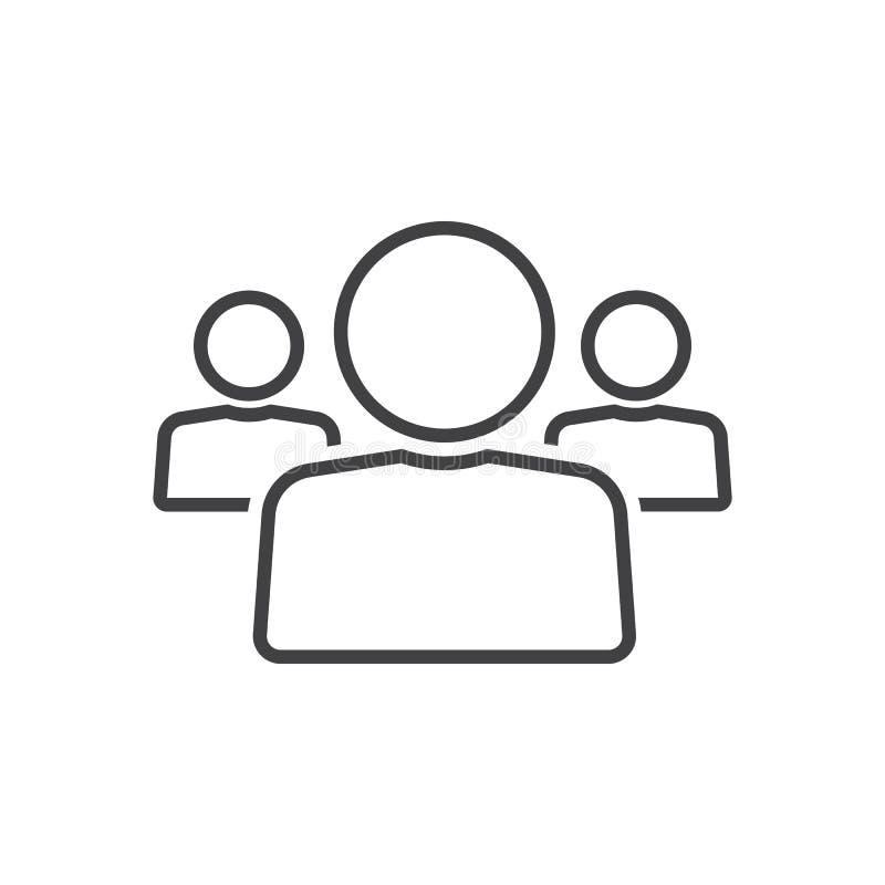 La gente alinea el icono, illustrati del logotipo del esquema de la dirección del equipo libre illustration