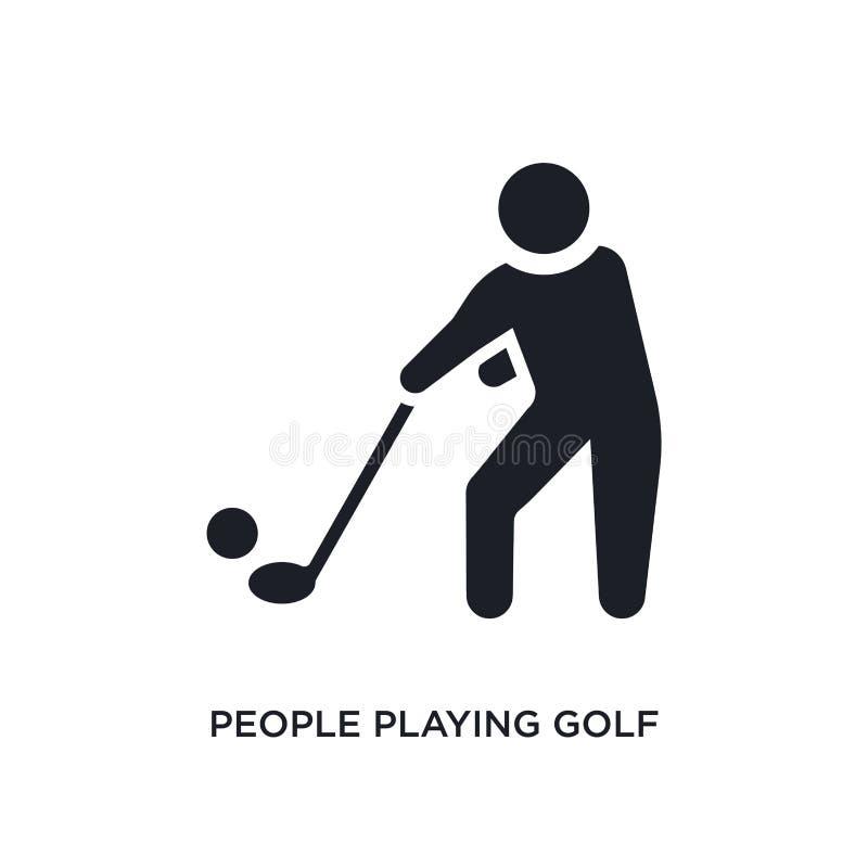 la gente che gioca icona isolata golf illustrazione semplice dell'elemento dalle icone ricreative di concetto dei giochi la gente royalty illustrazione gratis
