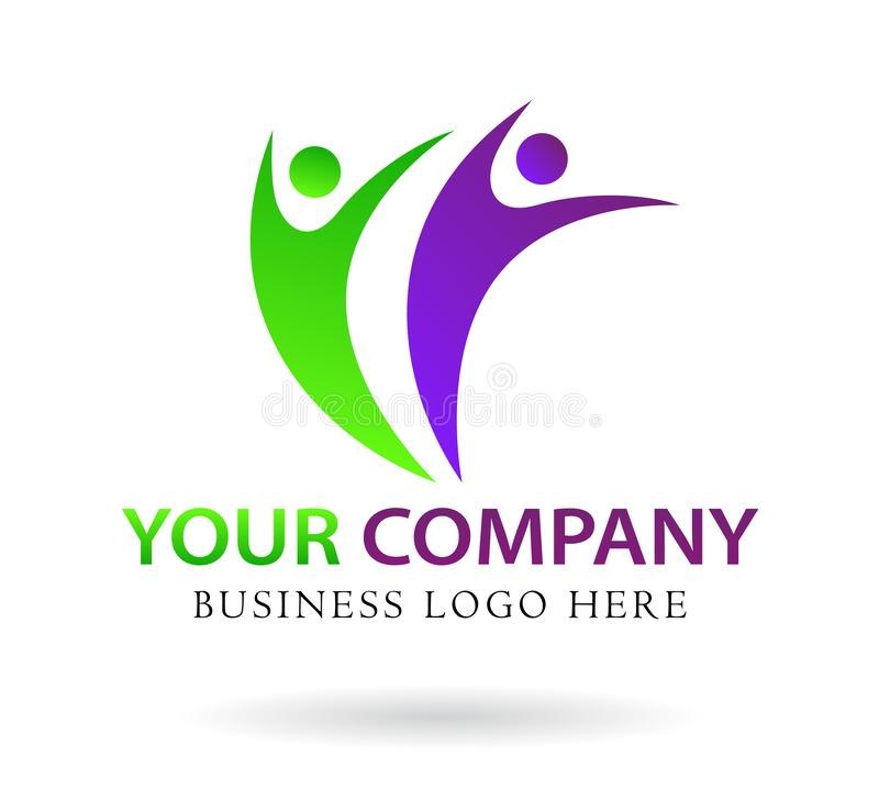La gente combina el diseño del logotipo del trabajo, extracto de la gente, negocio moderno, icon1 libre illustration
