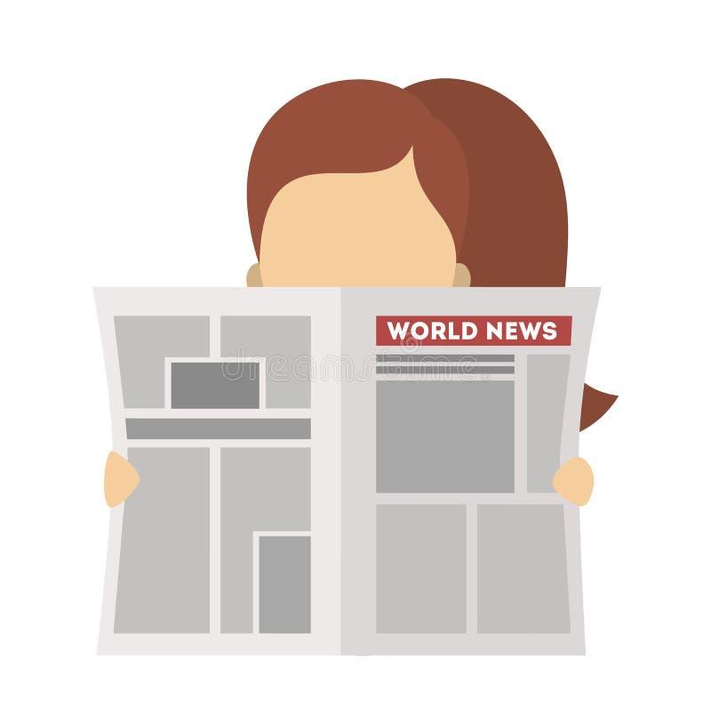 La gente con i giornali royalty illustrazione gratis