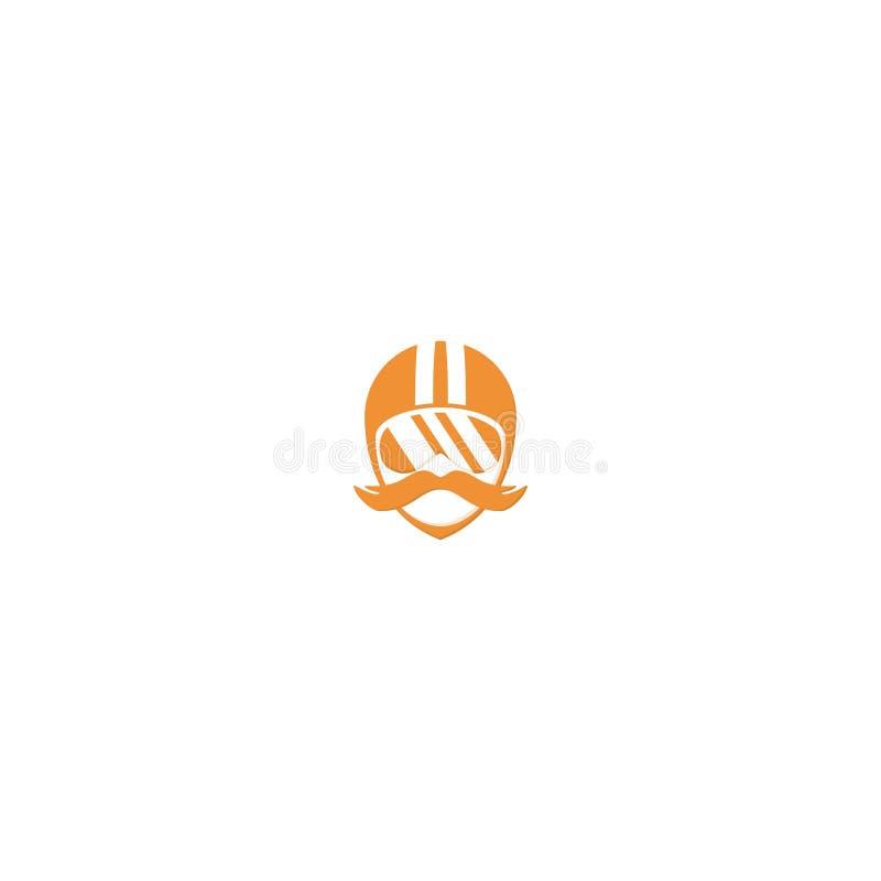 La gente con progettazione di logo del timone modello di vettore dell'icona di Dan di simbolo illustrazione vettoriale