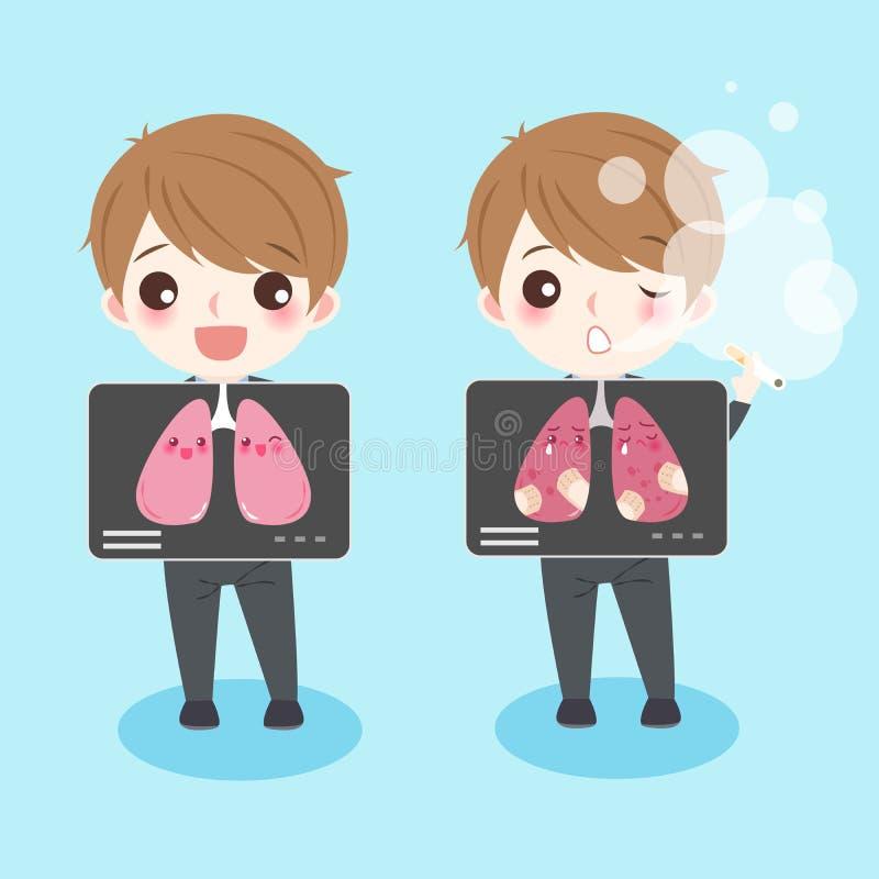 La gente con salute del polmone illustrazione di stock