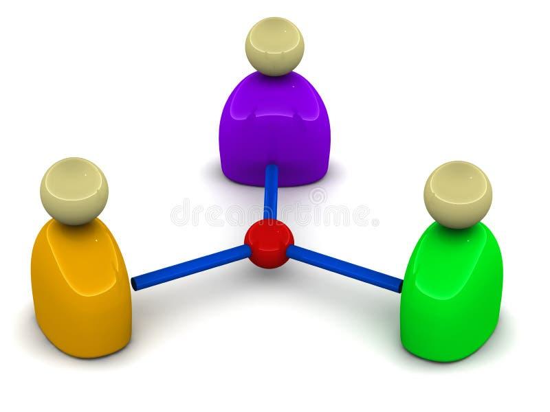 La gente connette illustrazione vettoriale