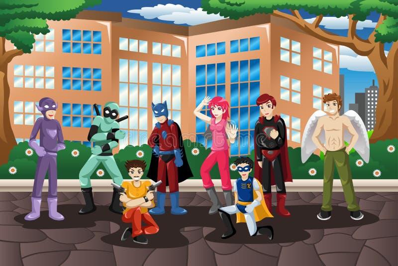 Download La Gente In Costume Di Cosplay Illustrazione Vettoriale - Illustrazione di adolescenti, adulto: 55354815