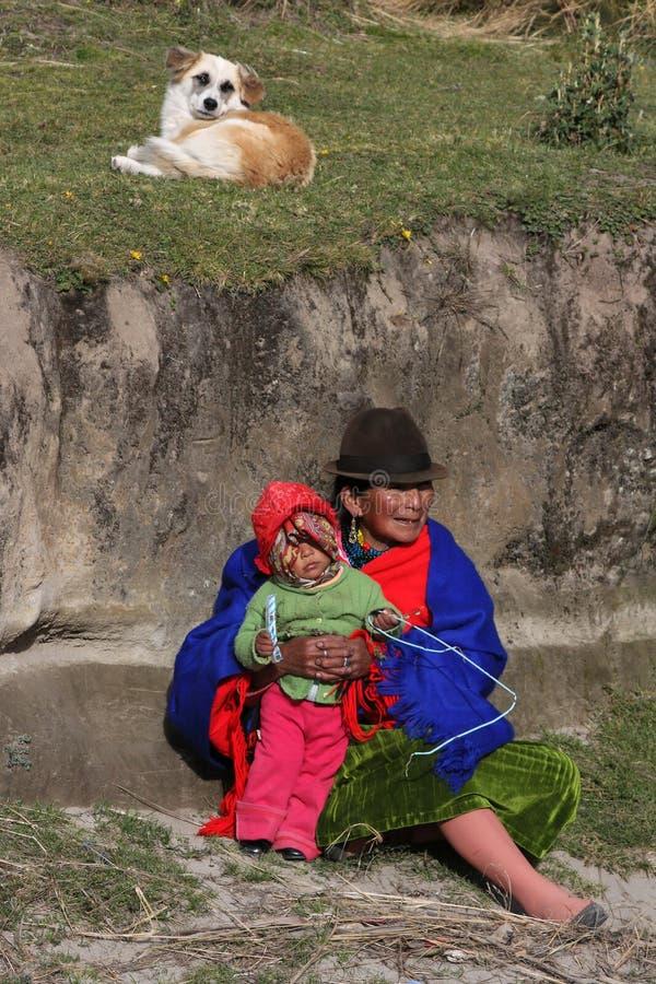 La gente del Ecuadorian immagini stock