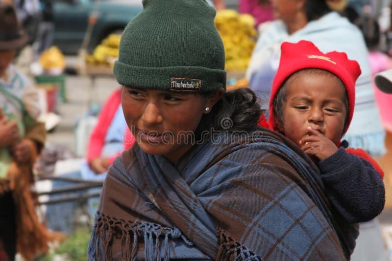 La gente del Ecuadorian fotografia stock
