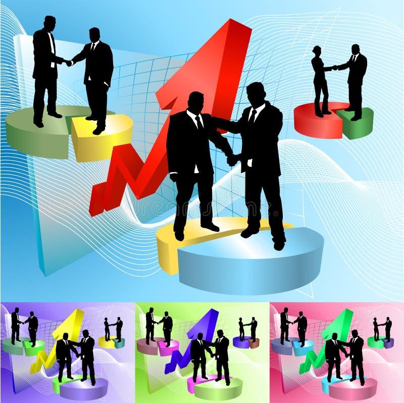 La gente del grafico a settori illustrazione di stock