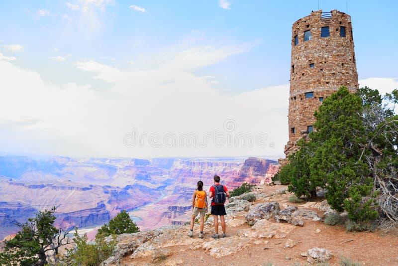 La gente del Grand Canyon immagini stock