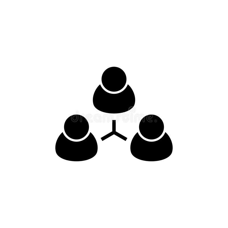 La gente del gruppo, Team Flat Vector Icon illustrazione vettoriale
