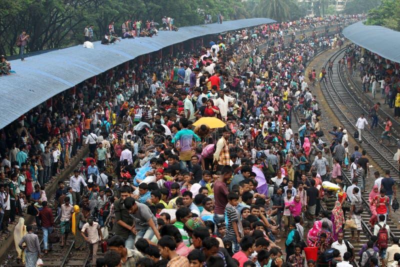 La gente del limite domestico ultimo giorno dell'Eid-UL-Adha immagini stock
