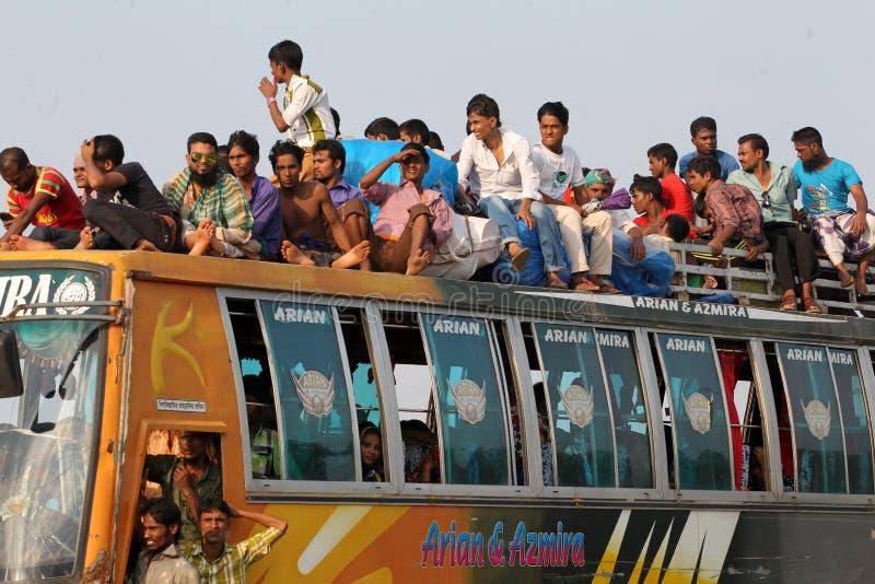 La gente del limite domestico ultimo giorno dell'Eid-UL-Adha fotografie stock libere da diritti