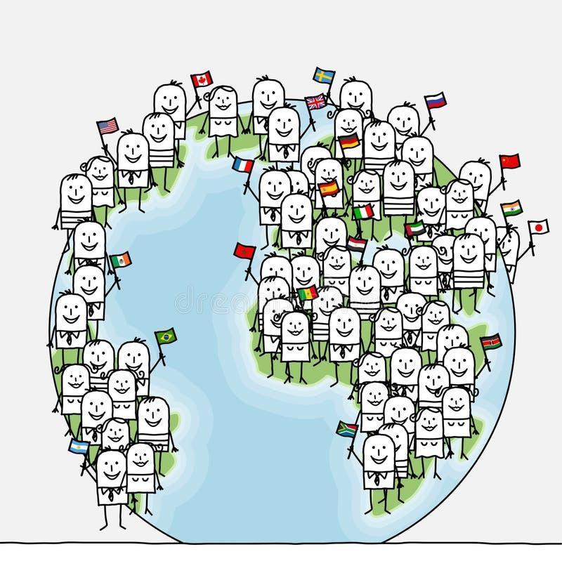 La gente del mondo royalty illustrazione gratis