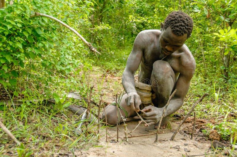 La gente del mondo - boscimano africano immagine stock libera da diritti