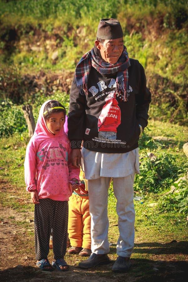 La gente del Nepal fotografia stock libera da diritti
