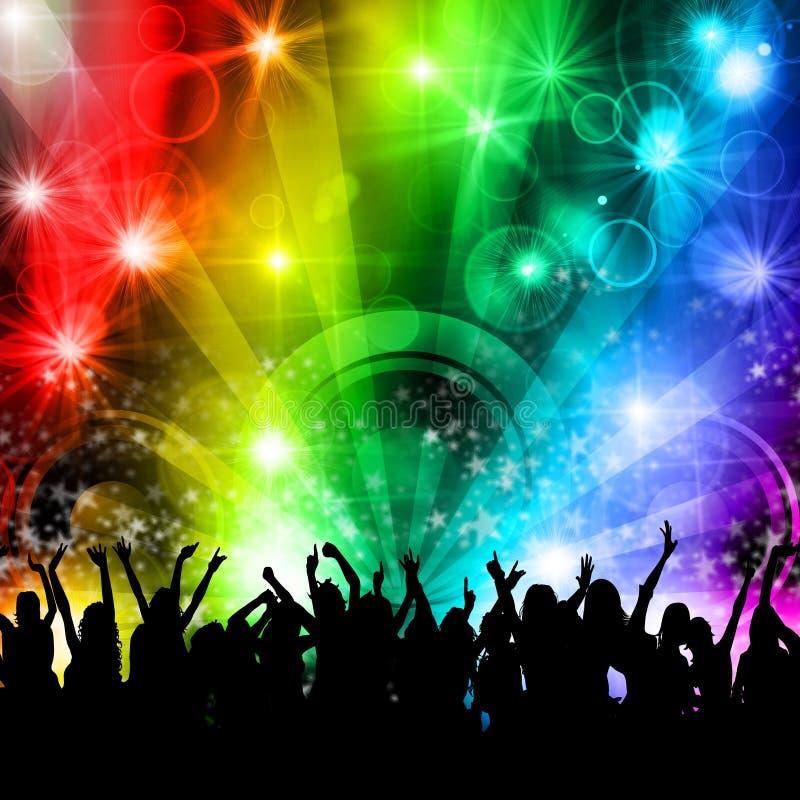 La gente del partito di musica della discoteca del DJ immagine stock