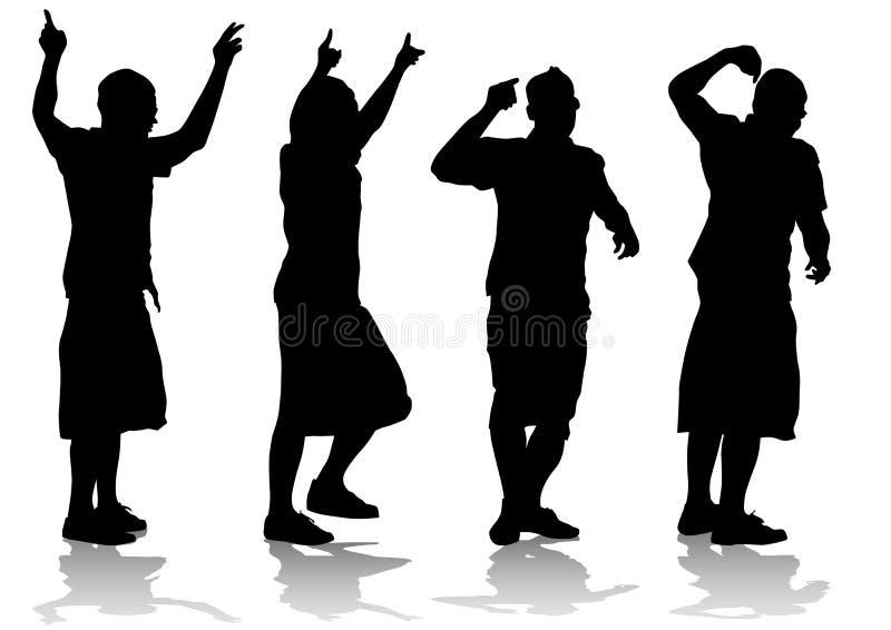 La gente del Rap canta ilustración del vector
