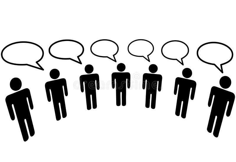La gente del símbolo en red social de los media conecta el blog ilustración del vector