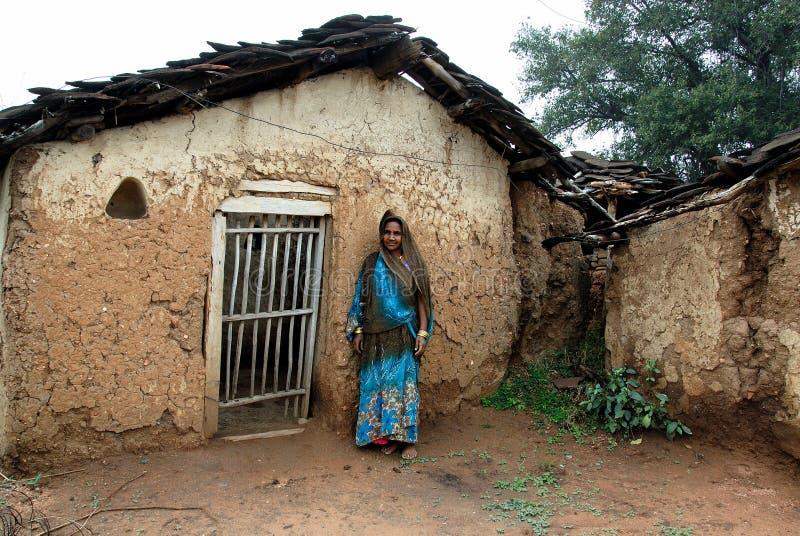 La gente del villaggio di Khajuraho immagini stock libere da diritti