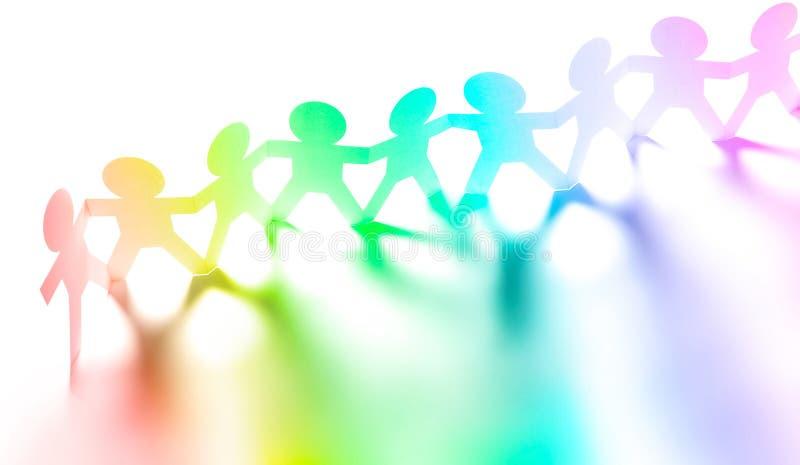 La gente dell'arcobaleno si è unita immagini stock libere da diritti