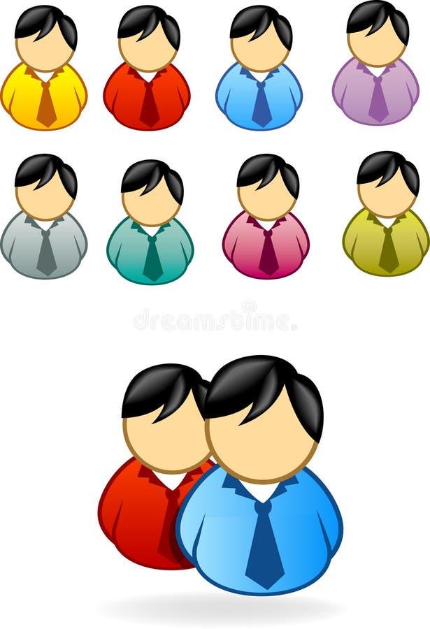 La gente dell'icona illustrazione di stock