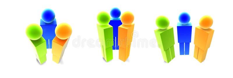 Download La Gente Dell'icona - Multi Angolo Illustrazione di Stock - Illustrazione di simbolo, colorato: 218093