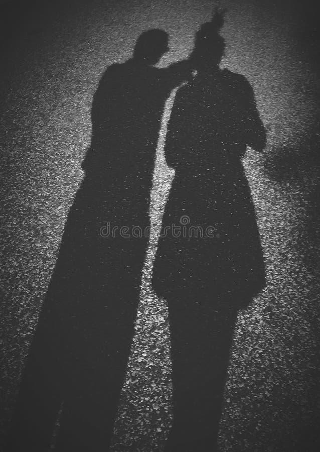 La gente dell'ombra immagine stock