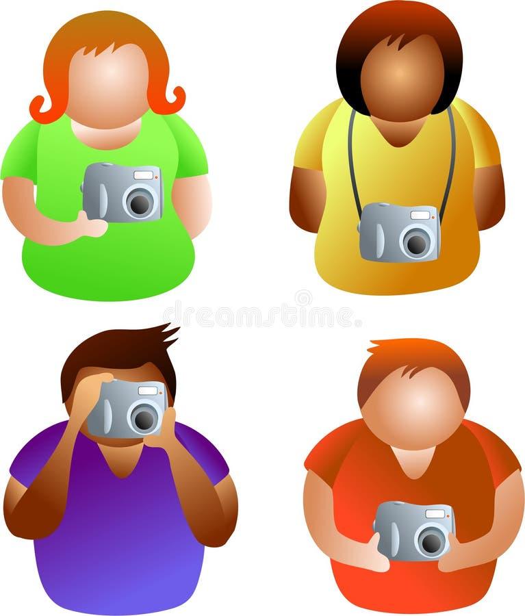 La gente della macchina fotografica illustrazione vettoriale
