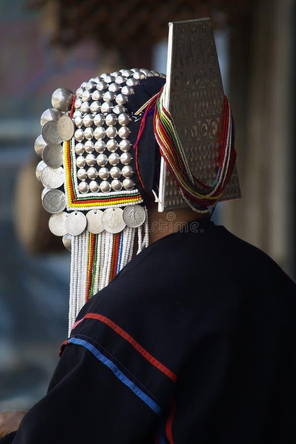 La gente della tribù di Akha immagini stock libere da diritti