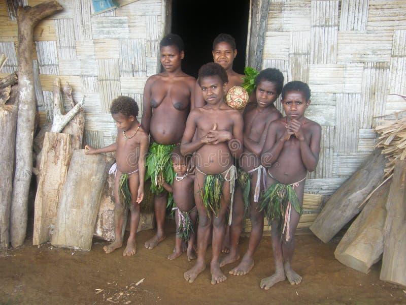 La gente della tribù di Malmal nel Vanuatu immagine stock libera da diritti